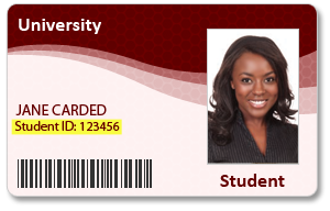 You will find the student ID in your student ID card